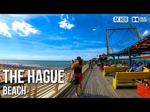 Scheveningen - The Hague - Beach Walking Tour〚𝟒𝐊〛🇳🇱 Netherlands