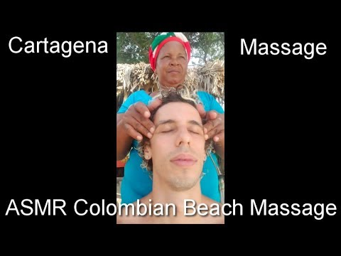 ASMR Colombian Beach Massage with ocean sound