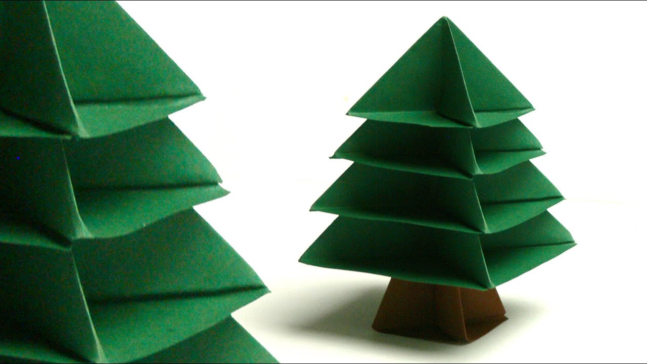 modulares origami tannenbaum christmas tree doovi. Black Bedroom Furniture Sets. Home Design Ideas