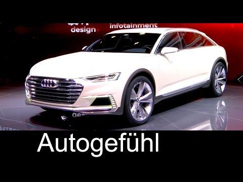 Audi Prologue Allroad concept Preview future Audi A8 or A6 Allroad/Avant + Audi Q7 e-tron premiere