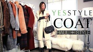YESSTYLE COAT HAUL   TRY-ON + STYLE