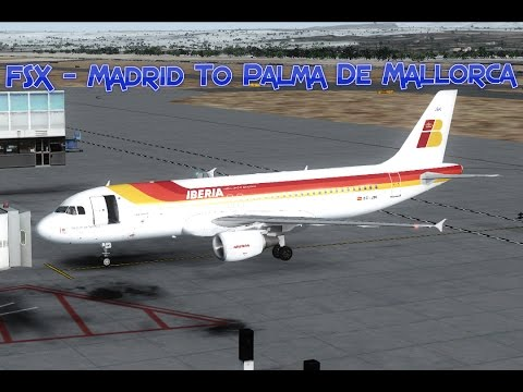 FSX - Madrid To Palma De Mallorca