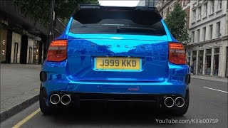 Chrom Blue Gemballa GT550 Biturbo details & sounds 1080p