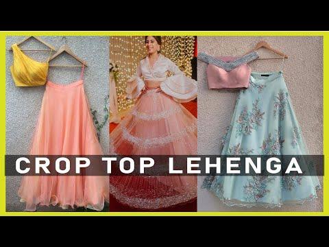 crop-top-lehenga-designs- -neck-&-sleeves-design- -lehanga-designs-2020