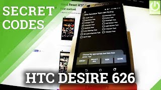 HTC Desire 626 SECRET CODES / HIDDEN MENU / HTC TRICKS