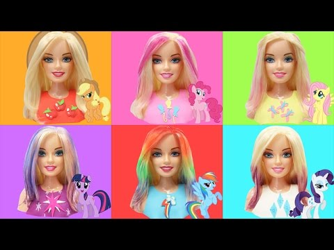 Play Doh And Make Up Barbie My Little Pony Rainbow Dash Twilight