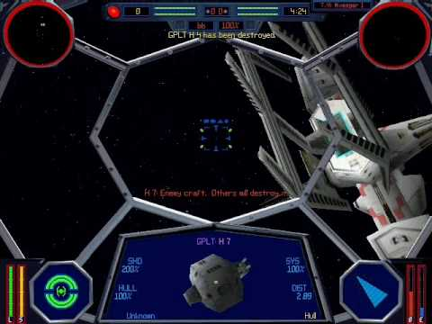Lets Play X-Wing vs Tie Fighter Imperial Mission 8 Part 1: Destroy Repair Yard |