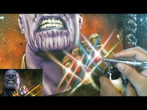 "How to Airbrush #3 ""THANOS"" Complete Art Walkthrough"