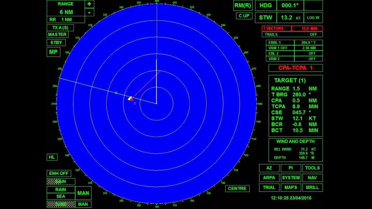 Colregs Rule 19 Scenario Vessel Detected By Radar