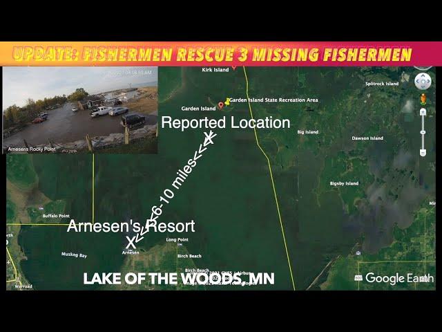 UPDATE: Fishermen Rescue 3 Missing Fishermen