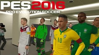 PES 2016 - Gameplay Brasil vs Alemanha na Arena Corinthians (PS4/XONE/PC/PS3/X360)