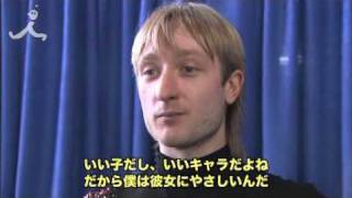 Plushenko interview after Gala at the Olympics 2010 - FUNNY! :-)