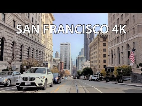 Driving Downtown - San Francisco California USA 4K
