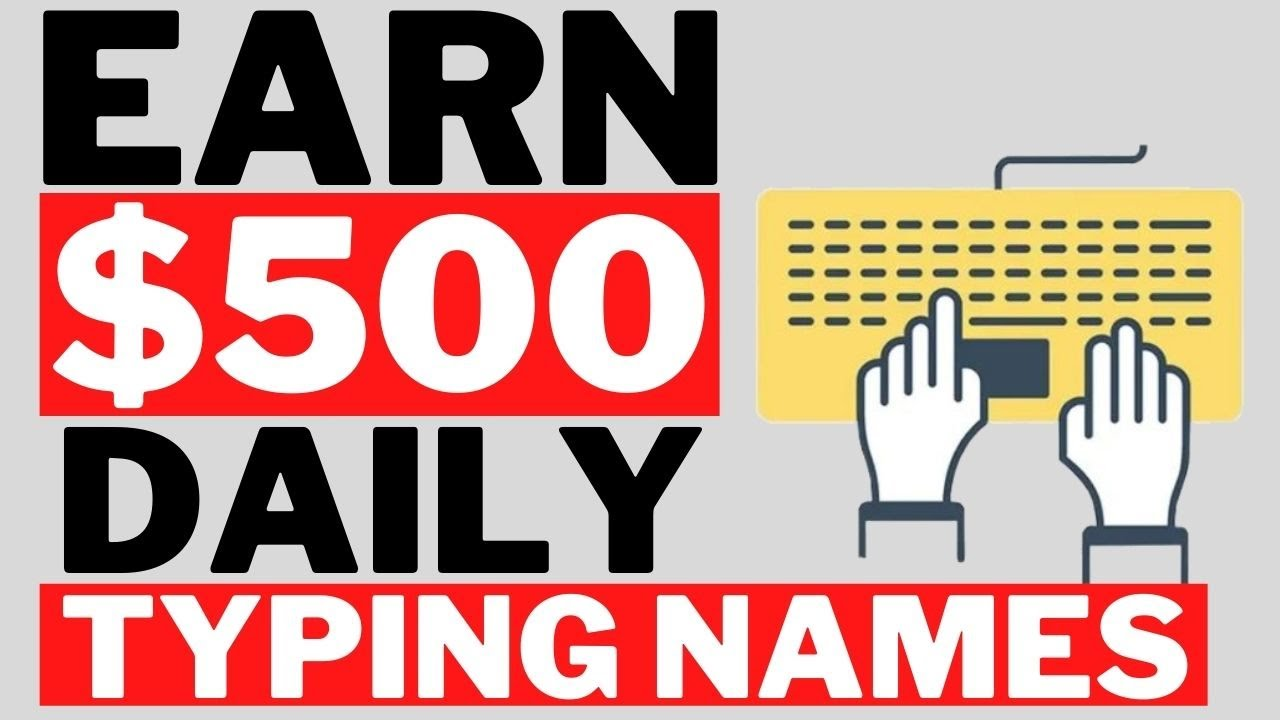 Earn 300 By Typing Names Online Available Worldwide Make Money Online