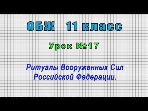 ОБЖ 11 класс (Урок№17 - Ритуалы Вооруженных Сил Российской Федерации.)
