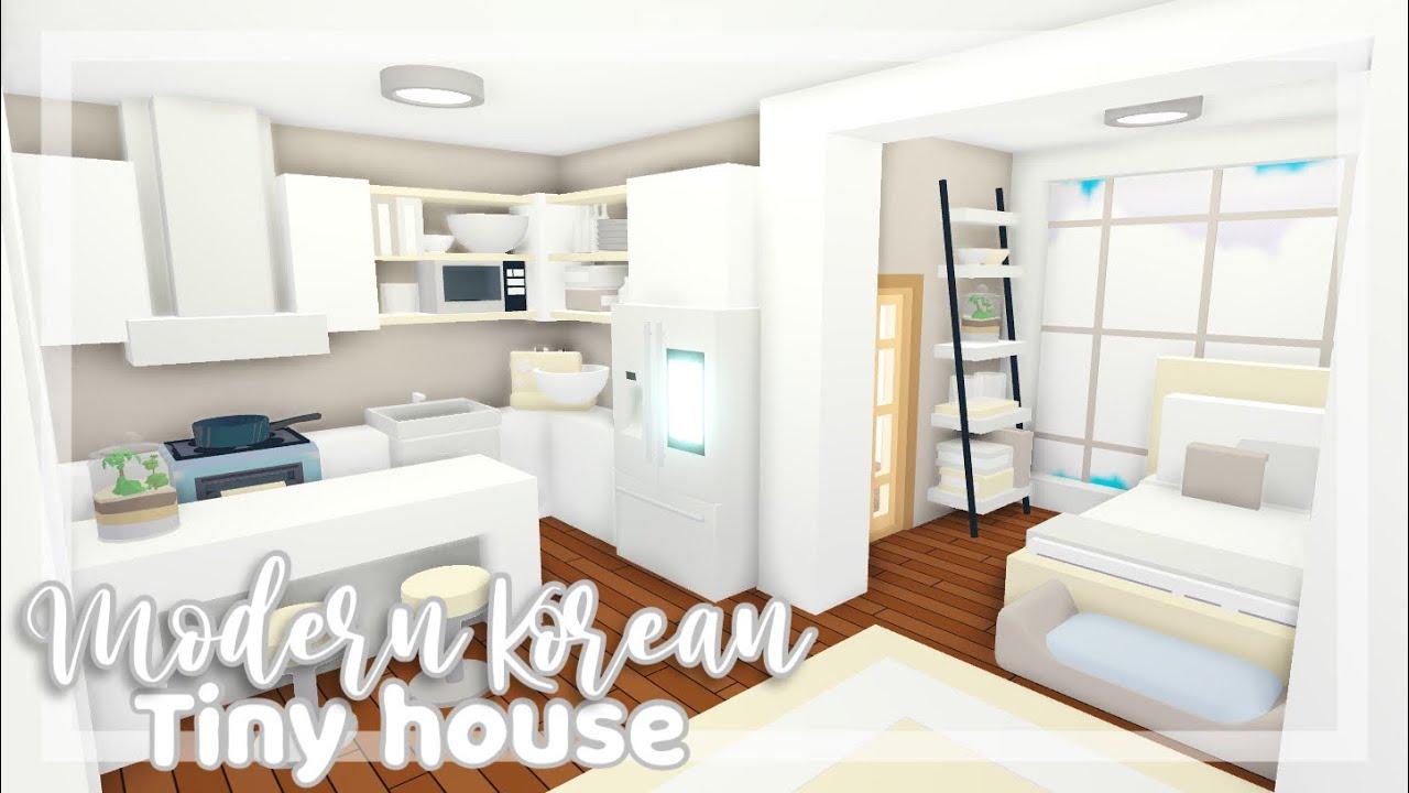 Modern Korean Tiny House Speedbuild Adopt Me Speedbuild Youtube