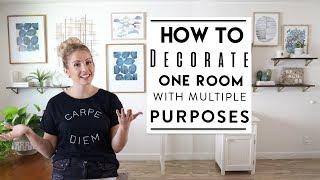 Interior Decorating Challenges: ONE Room THREE Purposes | Studio Apartment Decor