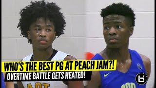 Sharife Cooper vs Zion Harmon CRAZY POINT GUARD BATTLE!! Overtime THRILLER At Nike Peach Jam!