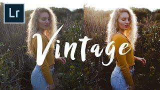 How to edit Vintage Style Photos FAST | Adobe Lightroom Tutorial (4k)