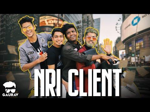 NRI Client || Gujrati Comedy Video - Kaminey Frendzz