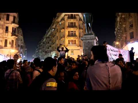 Talaat Harb Protest against law of protest.. Cairo
