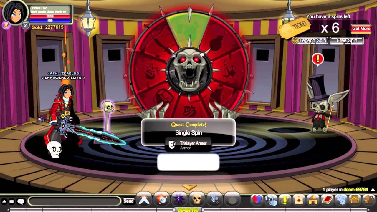 aqworlds wheel of doom