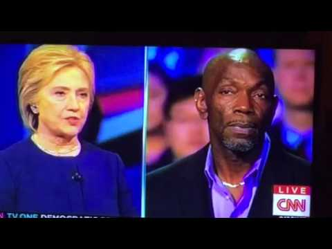 Hillary Clinton Answers Ricky Jackson Who Was Wrongly Put On Death Row #DemTownHall
