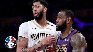 LeBron James & Anthony Davis shine in Pelicans vs. Lakers | NBA Highlights thumbnail