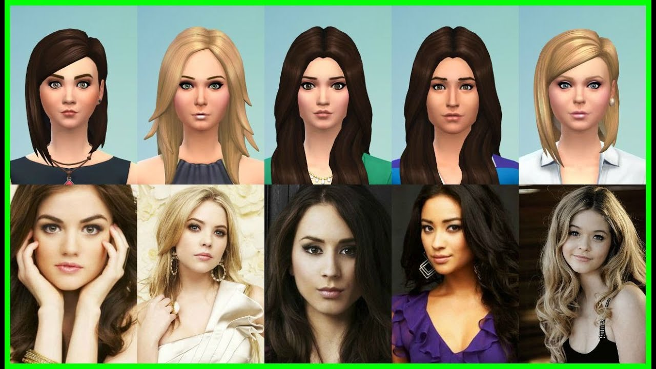The Pretty Little Liars ~ Sims 4 CAS [Custom Content Used] - YouTube