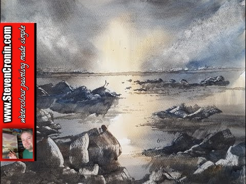 Watercolour painting tutorial featuring Brean Beach: Watercolour painting lesson using a reference photograph I took at Brean Beach a couple of weeks ago.  -~-~~-~~~-~~-~- Pledges on my Patreon page help me continue to make painting videos and keep it sustainable.  Watch new watercolour painting videos every week created exclusively for patrons-only at http://www.patreon.com/StevenCronin  The paintings are for sale in my eBay shop at http://stores.ebay.co.uk/original-paintings-by-steven-cronin  My watercolour materials are for sale on Amazon at Fabriano Watercolour Paper 50 pack of quarters (15x11in) 130lb (280gsm) NOT surface  http://amzn.to/2lH8uwD Pro Arte Ron Ranson Hake Brush - Large http://amzn.to/2k9daIU Winsor & Newton Cotman 21ml Water Colour Tubes Raw Sienna http://amzn.to/2l9e0tE Burnt Umber http://amzn.to/2l9lE75 Light Red http://amzn.to/2l9gqZg Ultramarine http://amzn.to/2l4Q7Ux Lemon Yellow Hue http://amzn.to/2khD95Y Payne's Gray http://amzn.to/2khvV26 Alizarin Crimson Hue 003 http://amzn.to/2lz52qx  You can help me by using the following link for general shopping on Amazon http://amzn.to/2lyQAia  Subscribe now and never miss another video http://www.youtube.com/user/watercolourworkshop?sub_confirmation=1  My other social media sites http://www.facebook.com/steven.cronin.watercolours http://www.twitter.com/#!/StevenCronin https://www.instagram.com/steven.cronin.art -~-~~-~~~-~~-~-