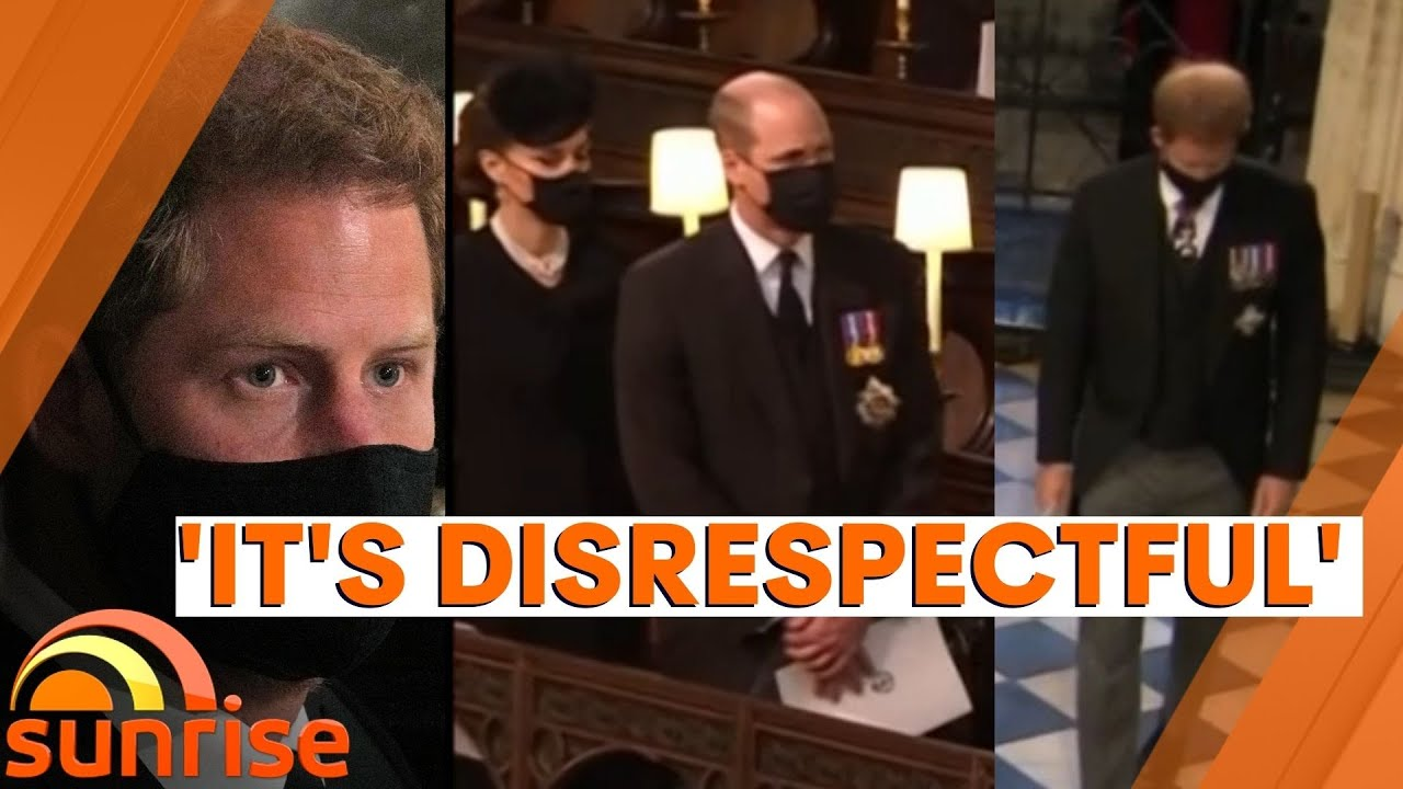 Download 'IT'S DISRESPECTFUL'   Body language expert on Royal family's behaviour at Prince Philip's funeral