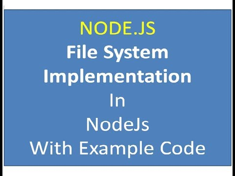 NODE JS How to Upload Files