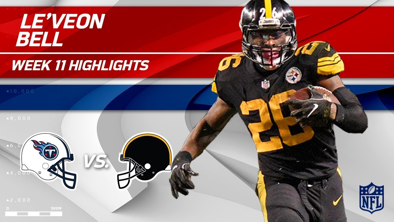 386f05335b9 Le'Veon Bell's Big Game w/ 103 Total Yards! | Titans vs. Steelers | Wk 11  Player Highlights. NFL