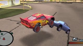 Disney Pixars Cars Movie Game - Crash Mcqueen 1 - Mowing The Grass With Sally