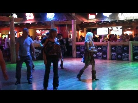 Line Dance country und Bullen reiten USA Las Vegas Bullriding BULL RIDING