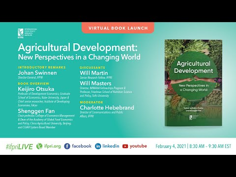 Book Launch: Agricultural Development: New Perspectives in a Changing World