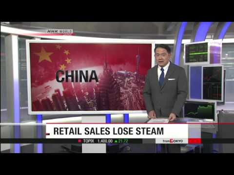 China's retail sales slowing in October