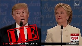 Every Time Trump Lied During the Final Debate