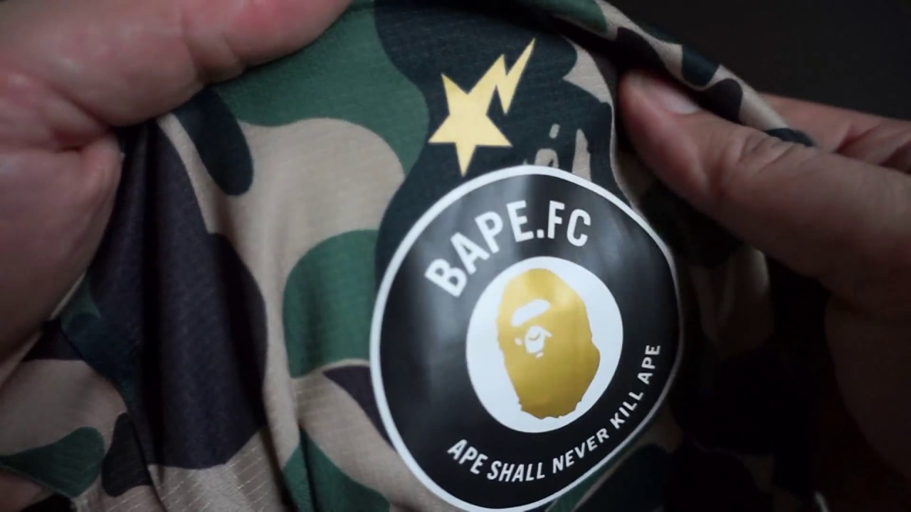 1d93bdfcd5b3 2014 Bathing Ape (BAPE) x PUMA FC Football Green Camo Jersey Unboxing!