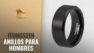 Productos 2018, Los 10 Mejores Itungsten: iTungsten 6mm 8mm Black Tungsten Carbide Rings for Men