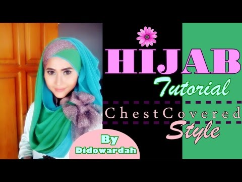 Tutorial Hijab Pesta Pashmina Menutup Dada by Didowardah #52