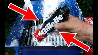 SHREDDING GILLETTE SHAVING FOAM AND RAZOR – EXPERIMENT
