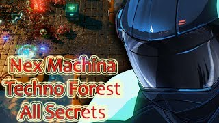 Nex Machina : Stage 1 Walkthrough All Secrets (Techno Forest)