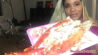 RED KING CRAB 🦀 & SHRIMP 🍤 MUKBANG ASMR VIDEO 123