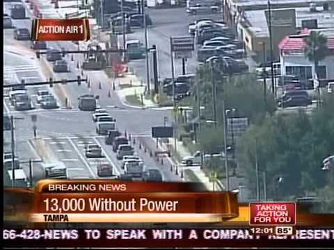 13,000 Tampa residents are without power