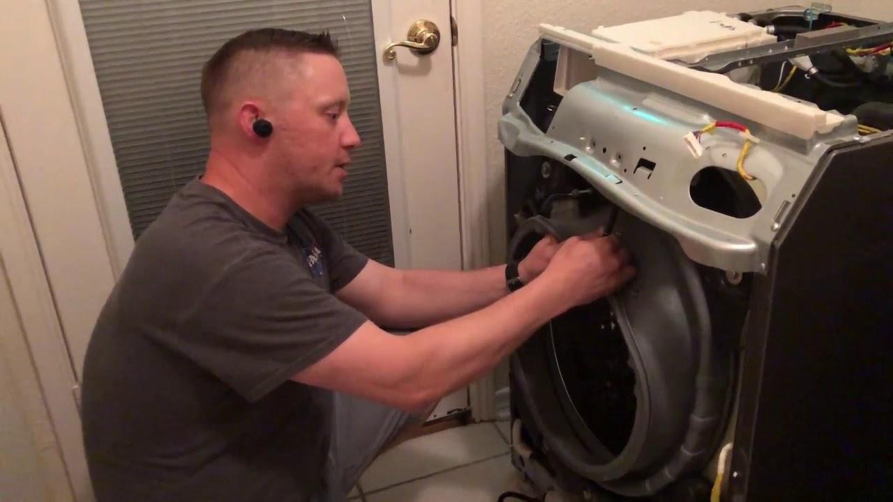 Front Load Washer Door Seal Diaphragm Troubleshooting - Samsung Repair (part #DC97-18094B)