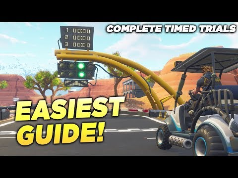 """""""Complete Timed Trials"""" FORTNITE EASIEST GUIDE! ALL TIMED TRIAL LOCATIONS WEEK 6 SEASON 5 CHALLENGE!"""