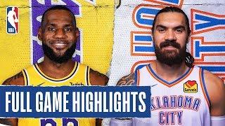LAKERS at THUNDER | FULL GAME HIGHLIGHTS | November 22, 2019