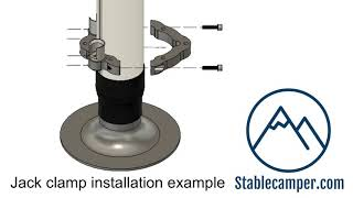 Stablecamper Jack Clamp installation example video