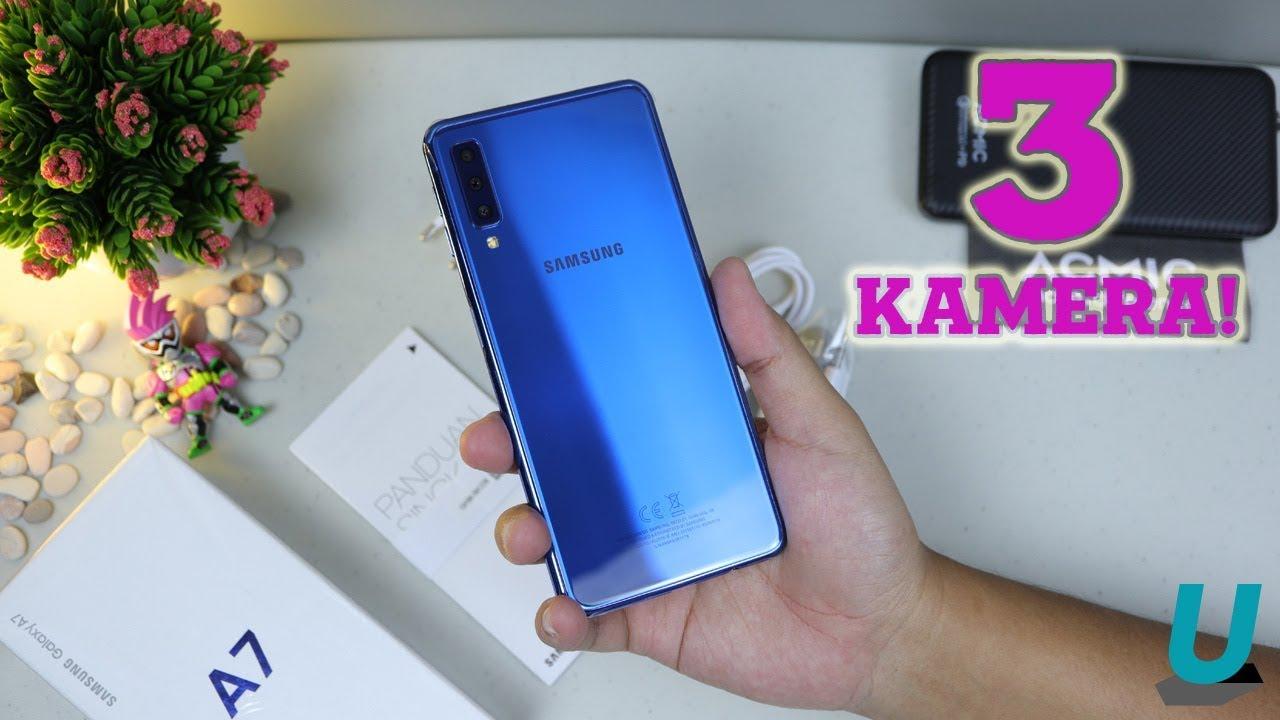 5 Menit Unboxing Samsung Galaxy A7 2018 Warna Biru Hasil Pre Order